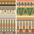 Set of ancient egyptian ornament, vector, seamless pattern — 图库矢量图片