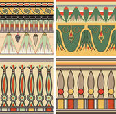 Set of ancient egyptian ornament, vector, seamless pattern — Vector de stock