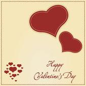 バレンタインの日、ベクトル イラストかわいいカード — ストックベクタ