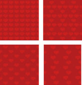 Set of seamless patterns for Valentine's Day, vector — Stock Vector