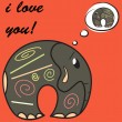 Funny greeting card for Valentine's Day, vector — Stok Vektör
