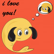 Funny greeting card for Valentine's Day, vector — Vettoriali Stock