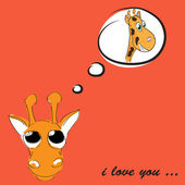 Funny greeting card for Valentine's Day, vector — Stock Vector