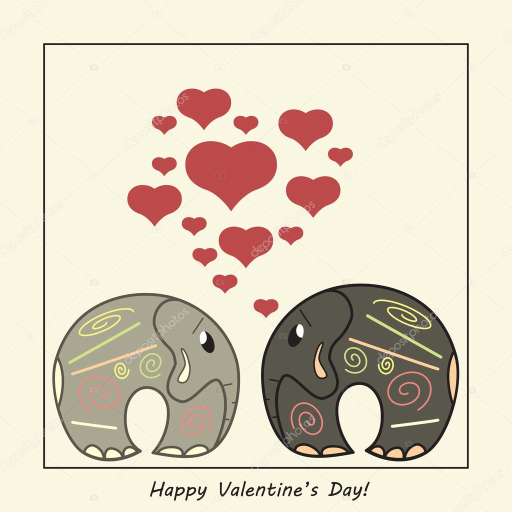 Funny greeting card for Valentine's Day, vector — Stock Vector #8678882