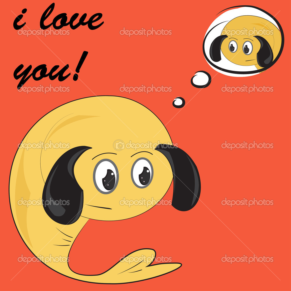 Funny greeting card for Valentine's Day, vector  Stock Vector #8678891