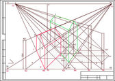 Zeichnung von gebäuden in perspective, autocad, vektor — Stockvektor