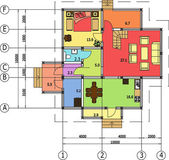 Desenho arquitetônico de uma casa, autocad, vector — Vetorial Stock