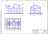 Architectural drawing of a house, autocad, vector — 图库矢量图片
