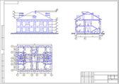 家、autocad、ベクトルの建築図面 — ストックベクタ