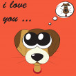 Funny greeting card for Valentine's Day, vector — Imagen vectorial
