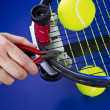 Tennis Racket Maintenance — Foto de stock #10039968