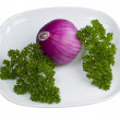 Parsley and Onion — Stock Photo