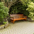 Secluded Wooden Bench — Stock Photo