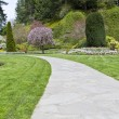 Long Garden Pathway — Stock Photo