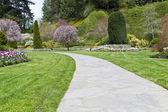 Long Garden Pathway — Stock Photo