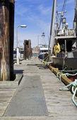 カナダ バンクーバー島での商業漁業のドック — ストック写真