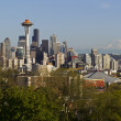 Seattle City Skyline in Spring Time — Stock Photo
