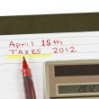 Tax Date — Stock Photo