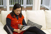 Reading at Home — Stock Photo