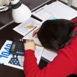 Tax Exhausted — Stockfoto