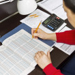 Tax Income Tables — Stock Photo