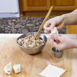 Stock Photo: Making Wonton