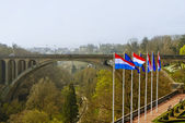 Adolphe Bridge at Luxembourg City — Stock Photo