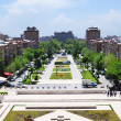 View of Yerevan from Cascade, Armenia. — Stock Photo
