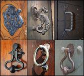 Set of vintage door handles — Stock Photo