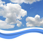 Sky background with copy space — Stock Photo