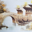 Old Japanese watercolor painting — 图库照片