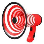 Red megaphone — Stock Photo