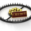 An abstract image of credit slavery. — Stock Photo