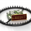 Stock Photo: Abstract image of credit slavery.