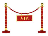 A velvet rope barrier, with a vip sign — Stock Photo