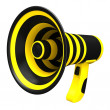 Megaphone in bright colors. — Stock Photo