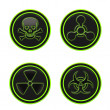 Icon depicting the hazard symbols — Stock Photo