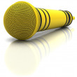 Yellow microphone — Stock Photo