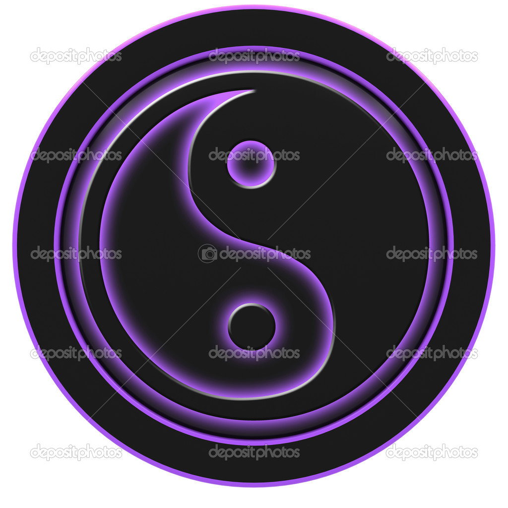 Yin and Yang symbol on a white background. — Stock Photo #9176301