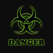 The sign of biological hazards — Stock Photo