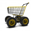 Stock Photo: Shopping basket with big wheels