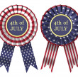 Stock Photo: 4th July Ribbon