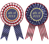 4th July Ribbon — Stock Photo