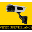 Video surveillance sign — 图库照片 #9770152