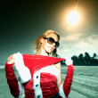 Santa girl vocation — Stock Photo