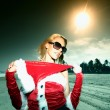 Santa girl vocation - Stock Photo