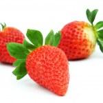 Strawberry pile isolated — Stock Photo