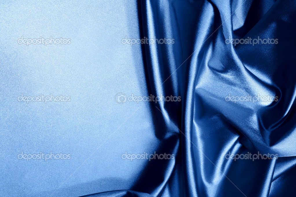 Blue satin background closse up  Stock Photo #10118461