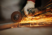 Metal sawing — Stockfoto