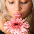 Flowered girl — Stock Photo
